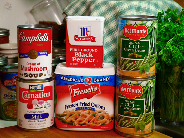 Green Bean Casserole, ingredients.