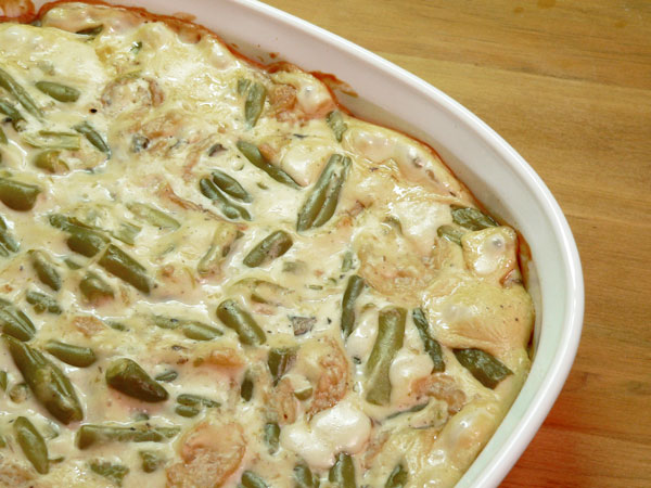 Green Bean Casserole, bake for 30 minutes.