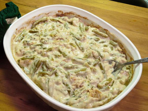 Green Bean Casserole, stir it around.