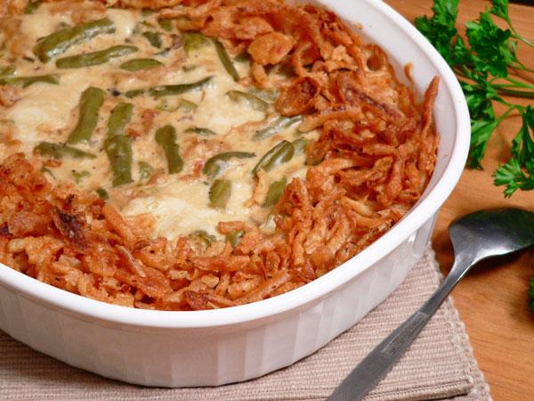 Green Bean Casserole, bake five more minutes.