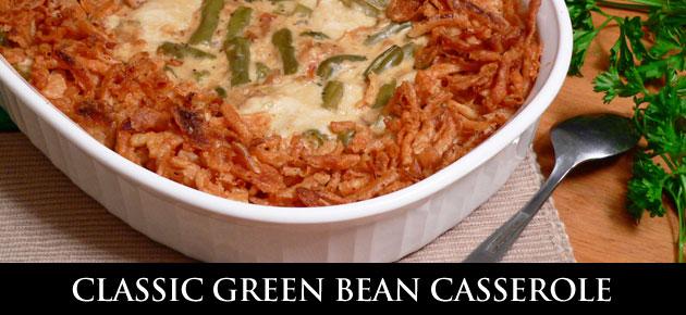 Green Bean Casserole, slider.