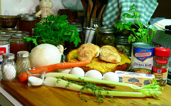 Cornbread Dressing, you'll need these ingredients.