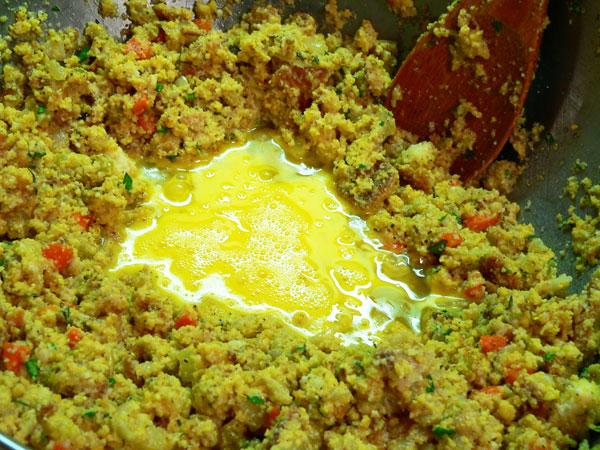 Cornbread Dressing, add to mixture.