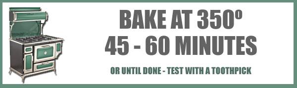 Cornbread Dressing, bake at 350 degrees.