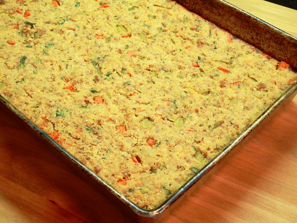 Cornbread Dressing, bake until done.
