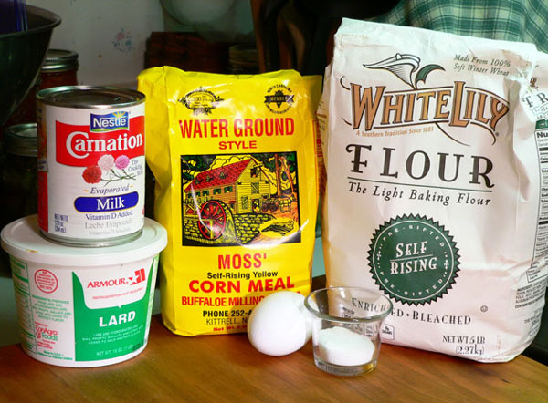 Cornbread and Eggs, ingredients.