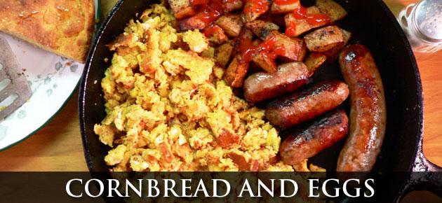 Cornbread and Eggs, slider.