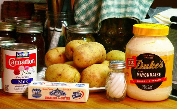 Mashed Potatoes, ingredients.