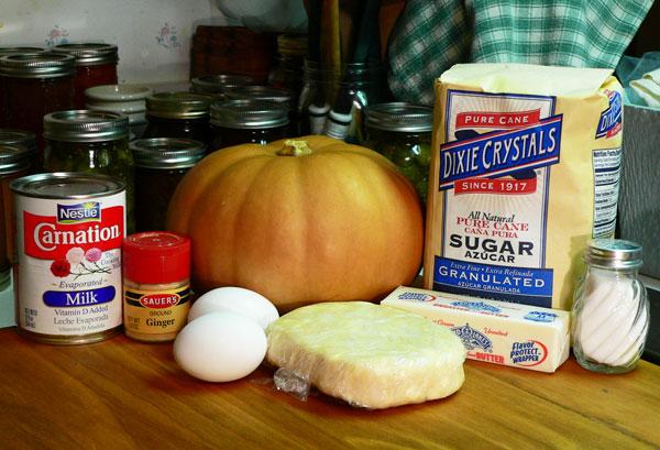 Pumpkin Pie, ingredients.