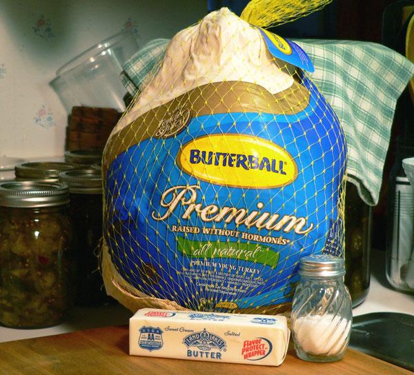 Roast Turkey, ingredients.