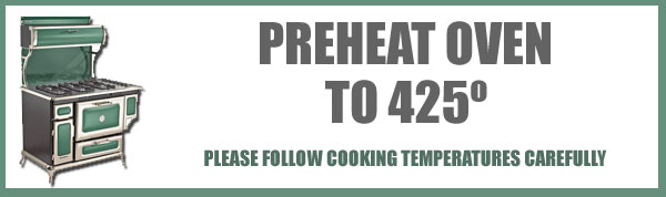 Preheat the oven to 425 degrees.