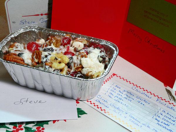 Annie's Fruitcake, my 2012 Christmas present.