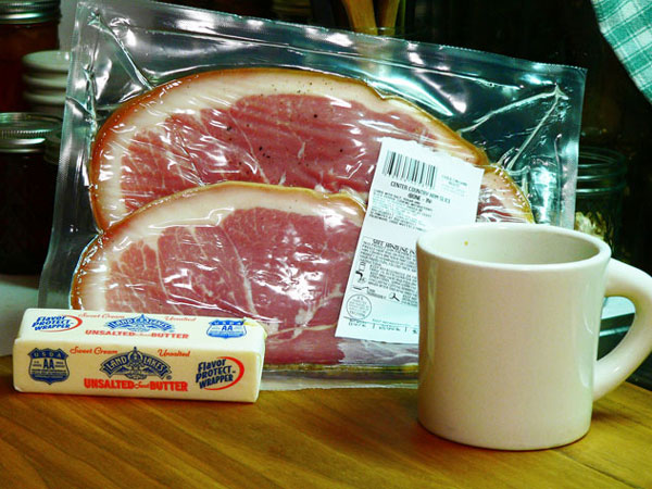 Country Ham, you'll need these ingredients.