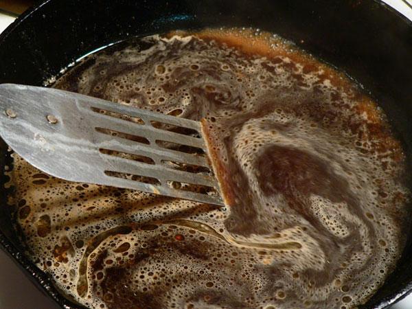 Country Ham, stir and scrape.