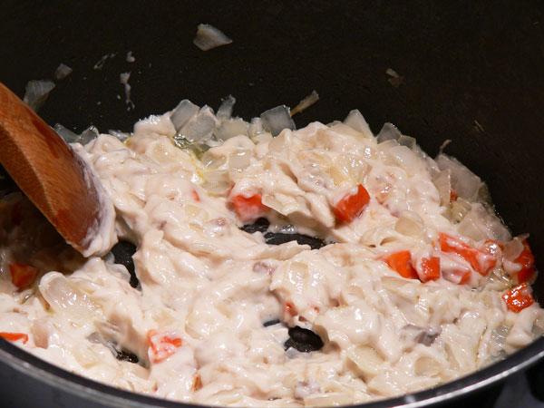 Cabbage Casserole, stir well.