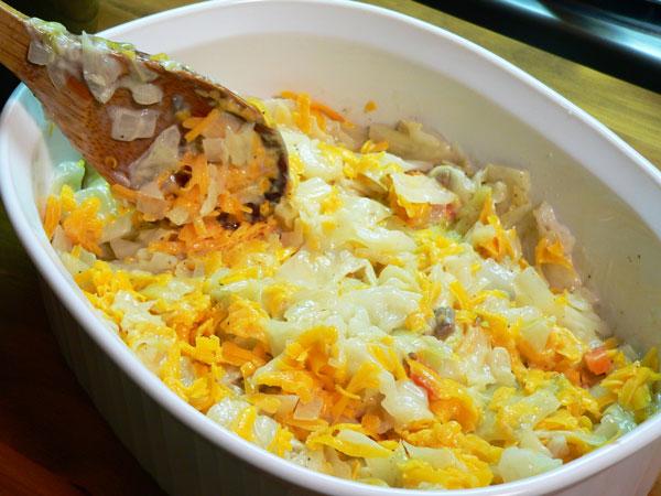 Cabbage Casserole, stir gently.