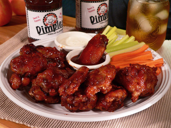 Dimples BBQ Chicken Wings Recipe, from Taste of Southern.com.