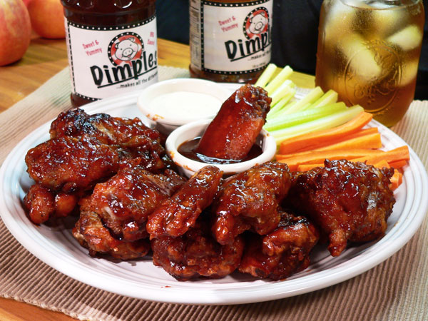 Dimples BBQ Wings, enjoy.