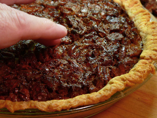 Pecan Pie, test and cool.