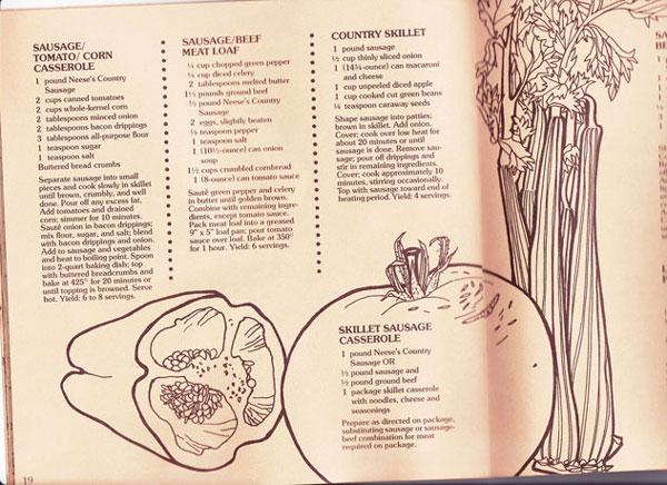 Sausage-Beef-Meatloaf, inside the booklet.
