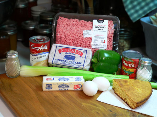 Sausage-Beef-Meatloaf, you'll need these ingredients.