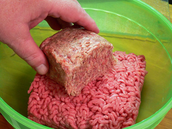 Sausage-Beef-Meatloaf, add beef and sausage.
