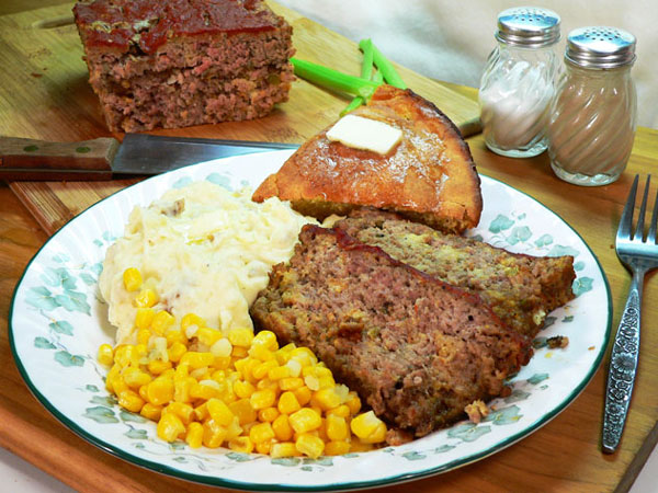 Neese's Sausage and Beef Meat Loaf recipe as seen on Taste of Southern.