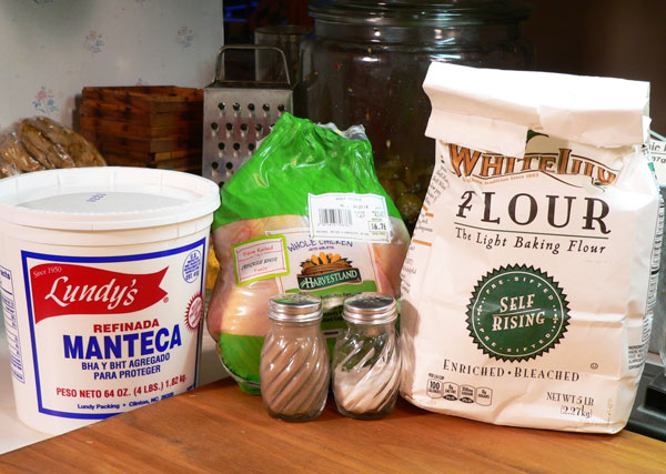 Southern Fried Chicken, you'll need these ingredients.