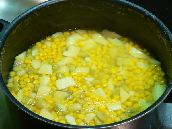 Brunswick Stew, cook until tender.