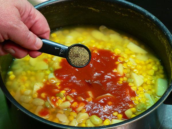 Brunswick Stew, add black pepper.