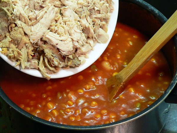 Brunswick Stew, add chicken and bbq.