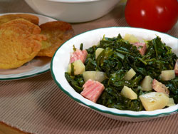 Turnip Greens with Diced Turnips Recipe