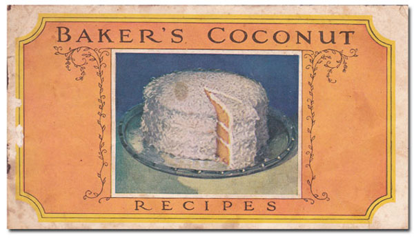 Baker's Coconut Cake booklet, dated 1924.