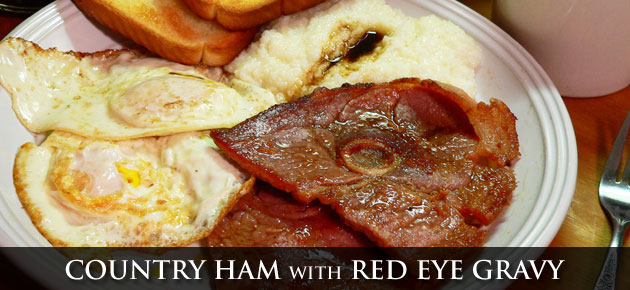 Country Ham with Red Eye Gravy recipe, as seen on Taste of Southern.