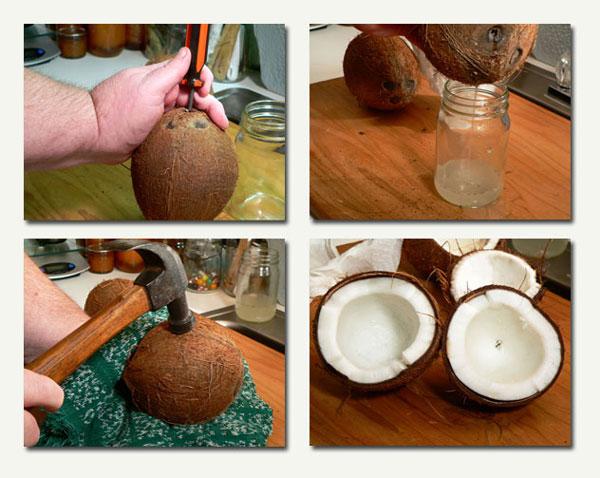 Baker's Coconut Cake, prepare the coconut.