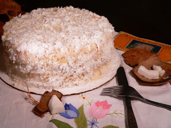 Baker's Coconut Cake, enjoy.