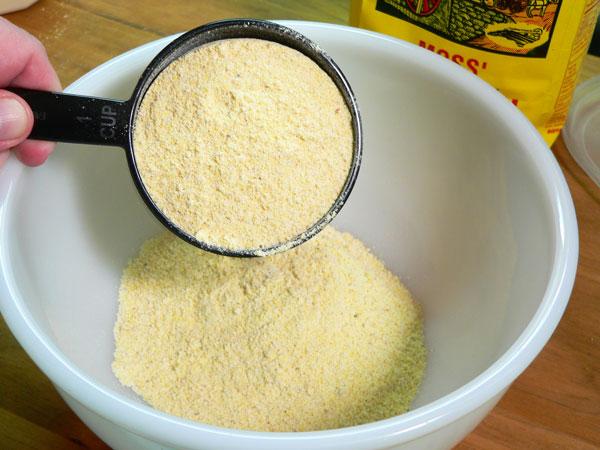 Crackling Bread, add the cornmeal.
