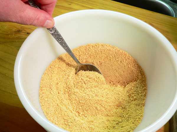 Key Lime Pie, mix the dry ingredients well.