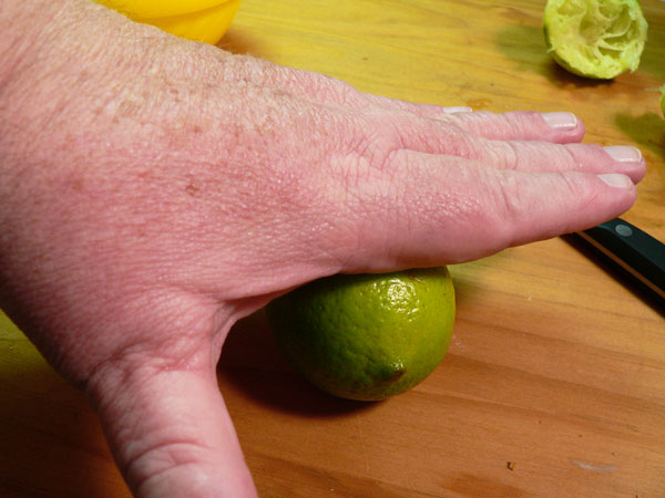 Key Lime Pie, roll the limes to help soften them for more juice extraction.