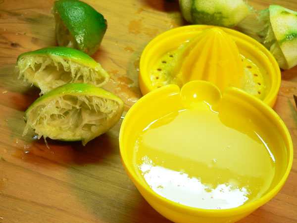Key Lime Pie, the juice that was extracted.