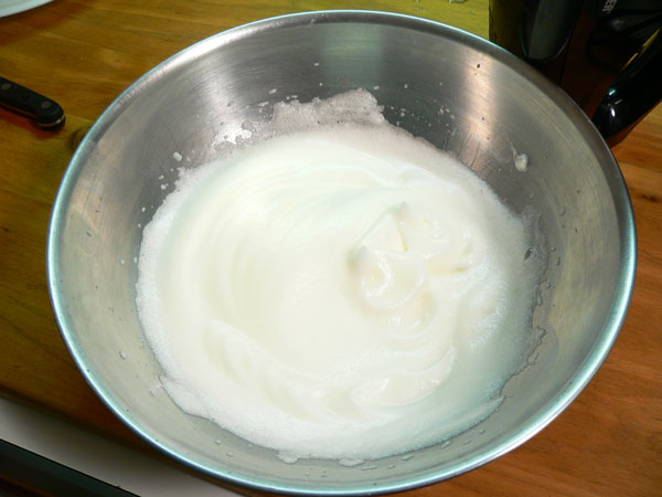 Key Lime Pie, beat the egg whites until they form soft peaks.