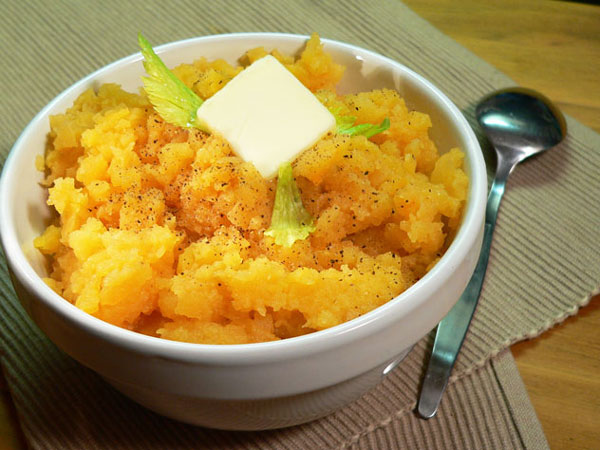 Mashed Rutabagas, serve warm and enjoy.
