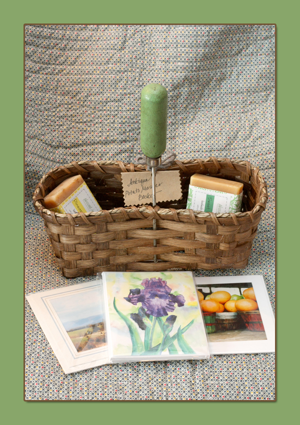 Easter-Basket Giveaway, with cards and soaps.