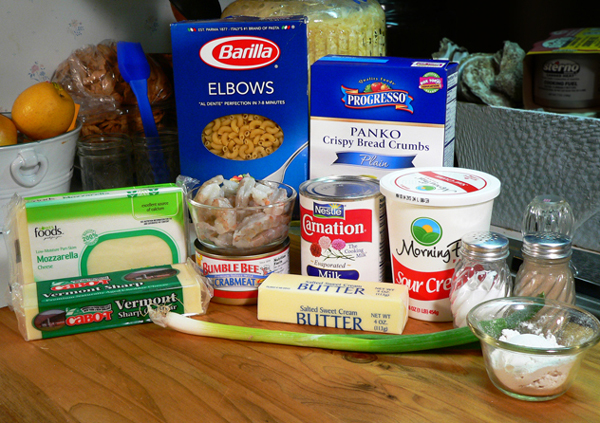 Seafood Mac and Cheese, ingredients you'll need.