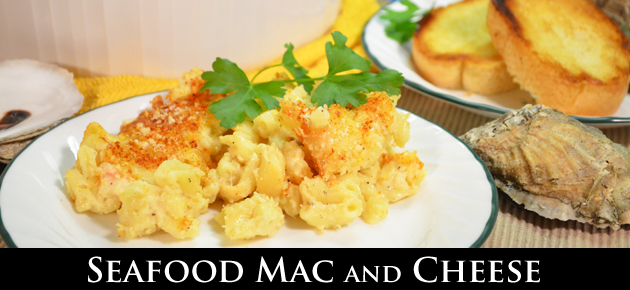 Seafood Mac and Cheese, slider.