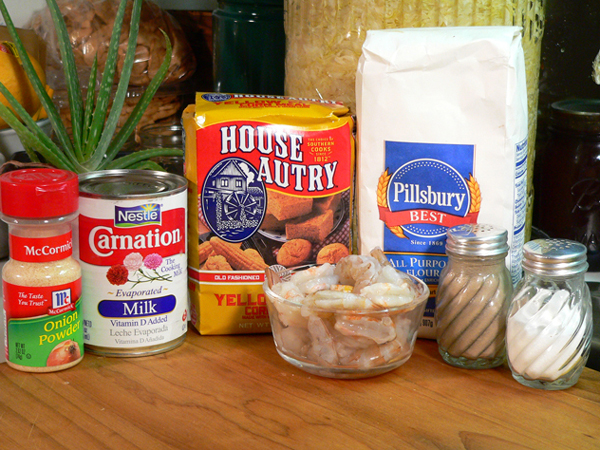Shrimp Po' Boy, ingredients you'll need.