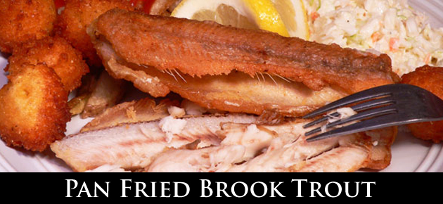 Pan Fried Brook Trout Recipe, as seen on Taste of Southern.
