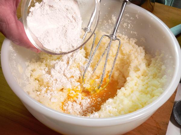 Butter Milk Pie, add the flour.