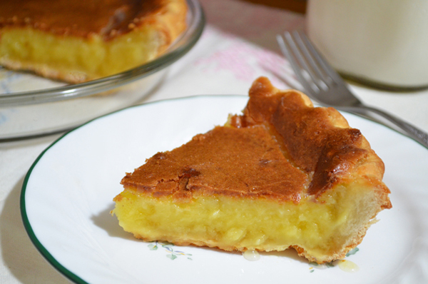 Buttermilk Pie, enjoy.