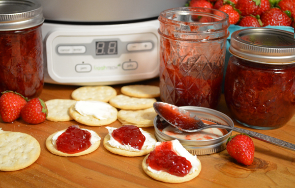 Strawberry Jam with the Ball FreshTECH Jam & Jelly Maker, as seen on Taste of Southern.